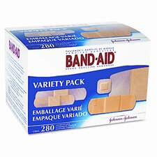 Sheer/Wet Adhesive Bandages, Assorted Sizes, 280 per Box