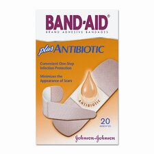 <strong>Johnson & Johnson</strong> Antibiotic Adhesive Bandages, Assorted Sizes, 20 per Box