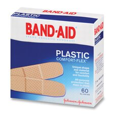 <strong>Johnson & Johnson</strong> Johnson Band-Aid Plastic Bandages, 60 per Box