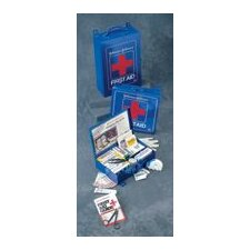 "<strong>Johnson & Johnson</strong> First Aid Kit For 50 People - 10 1/2"" x 10 1/2"" x 2 3/8""(Blue)"