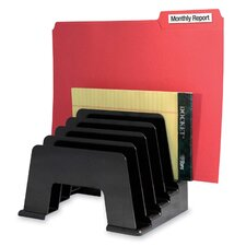 "<strong>Kantek</strong> Organizer Sorter, Five Compartmentss, 8""x5-3/4""x6"", Black"