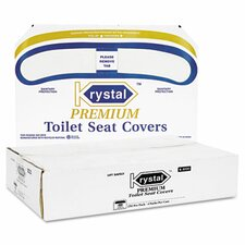 Boardwalk Premium Half-Fold Toilet Seat Covers, 250 Covers/Box, 4 Boxes/Carton