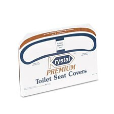 <strong>Krystal</strong> Boardwalk Premium Half-Fold Toilet Seat Covers, 250 Covers/Box, 20 Boxes/Carton