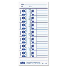 Universal Time Card, White, 100 per Pack