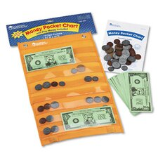 Money Pocket Chart with 115 Play Coins and 50 Play Bills