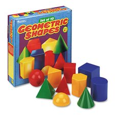 <strong>Learning Resources®</strong> Large Geometric Shapes 10 Piece Set