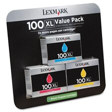 100XL High-Yield Color Ink Cartridges (Pack of 3)