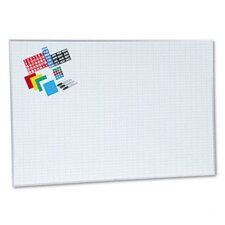 <strong>Magna Visual, Inc.</strong> Lustreboard Planning Kit, Porcelain-on-Steel, 72 x 48, White/Aluminum