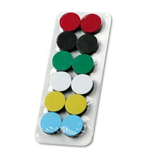 "High Energy Extra-Strong Magnets, 3/4"" Diameter, Assorted Colors, 12 per Pack"