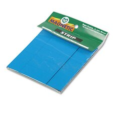 Magnetic Write-On/Wipe-Off Pre-Cut Strips 2 x 7/8, Blue, 25 per Pack