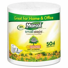 Small Steps 1005 Premium Recycled Two-Ply Bath Tissue, 504 Sheets/Roll, 80 Rolls/Carton