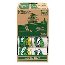 Small Steps 100% Premium Recycled Roll Towels Roll Out Case, 140 Sheets/Rl