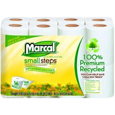 <strong>Marcal Paper Mills, Inc.</strong> 100% Recycled Bath Tissues in White