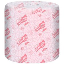 Snow Lily 100% Recycled Bath Tissues, 336 / Roll in White