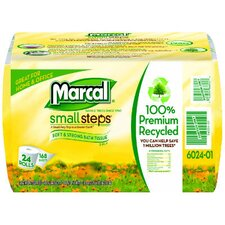 Grab N Go 100% Recycled 2-Ply Toilet Paper - 168 Sheets per Roll