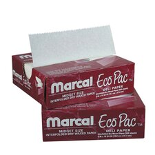 "6"" Eco-Pac Natural Interfolded Dry Waxed Paper Sheets in White"