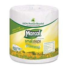 Small Steps 100% Premium Recycled 2-Ply Embossed Toilet Tissue, 48 Rolls/Carton