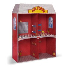 <strong>Badger Basket</strong> Adventure Fire Station Dollhouse