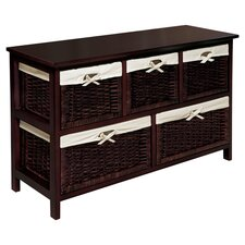 5 Basket Wicker Chest