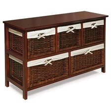 5 Wicker Basket Chest