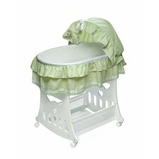 Waffle Ruffled Bassinet with Toy Box Base