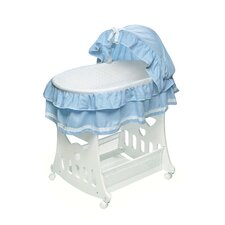 <strong>Badger Basket</strong> Waffle Ruffled Bassinet with Toy Box Base