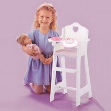 <strong>Badger Basket</strong> White Doll High Chair