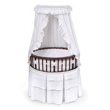 <strong>Badger Basket</strong> Elite Bassinet with Eyelet Bedding