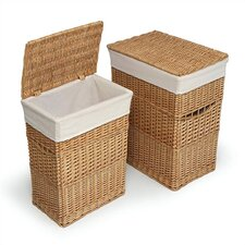<strong>Badger Basket</strong> Wicker Hampers (Set of 2)