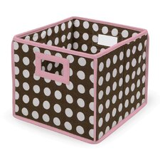 <strong>Badger Basket</strong> Folding Storage Cube in Polka Dot