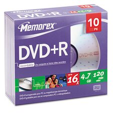 DVD + R Discs, 10/Pack