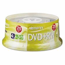 DVD + RW Discs, 25/Pack