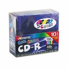 CD - RW Discs, 10/Pack
