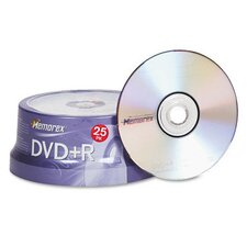 DVD + R Discs, 25/Pack