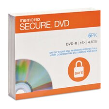 DVD-R, Secure (Set of 5)