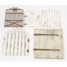 Garden Gate Wall Art (Set of 5)