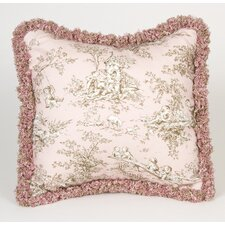 Madison Toile Pillow with Fringe