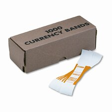 Self-Adhesive Currency Straps, $1,000 In $10 Bills, 1000 Bands/Box