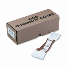 Self-Adhesive Currency Straps, Brown, $5,000 in $50 Bills, 1,000 Bands per Box