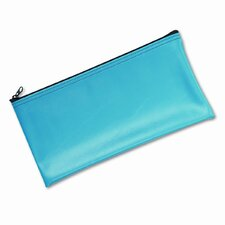 Leatherette Zippered Wallet, Leather-Like Vinyl, 11W X 6H