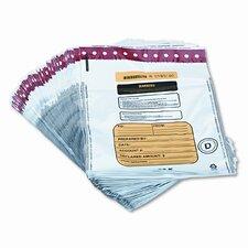 Tamper-Evident Deposit/Cash Bags, Plastic, 12 X 16, 100 Bags/Box