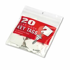 Steelmaster Slotted Rack Key Tags, Plastic, 20/Pack