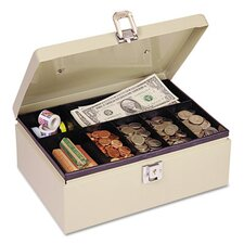 Steelmaster Heavy-Duty Steel Cash Box with 7 Compartments