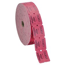 Double Ticket Roll, 2000/RL, Red