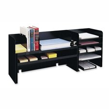 "Desk Organizer w/Dividers, 47-1/4""x9-1/2""x18-3/8"", Black"