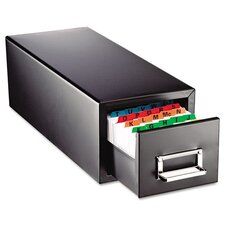 Steelmaster Drawer Card Cabinet Holds 1,500 3 X 5 Cards