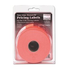 Easy-Load Two-Line Pricemarker Label, 3500/Pack