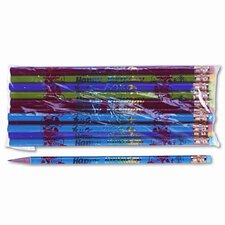 Decorated Wood Pencil, Happy Birthday, 12/Pack