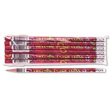 Decorated Wood Pencil, Welcome To Our Class, 12/Pack