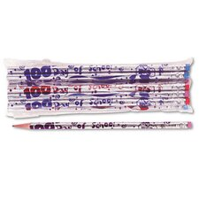 Decorated Woodcase Pencil, 12/Pack